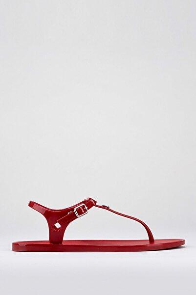 S10172 Ursula Basıc Kırmızı Kadın Sandalet