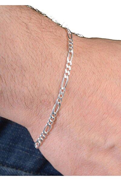 Erkek Figaro Gümüş Zincir Bileklik Dbse4005 925 Ayar