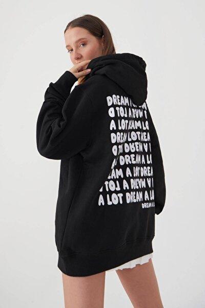 Sırtı Yazı Detaylı Sweatshirt S1044 - Y2