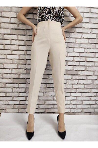 Kadın Bej Pensli Pantolon