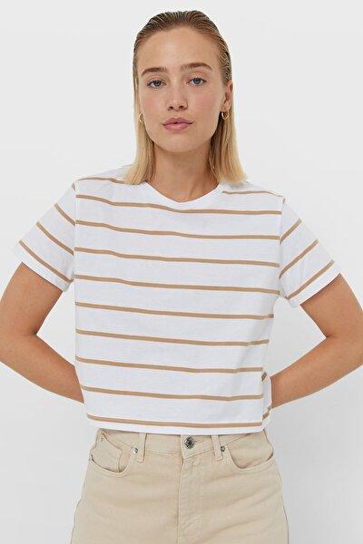 Çizgili Crop T-shirt