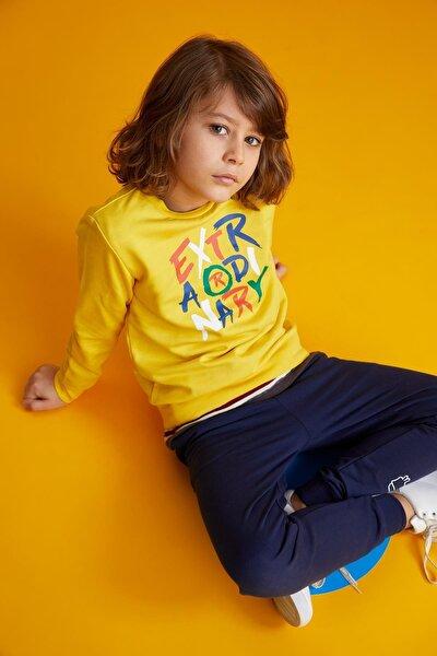 Erkek Çocuk Yazı Baskılı Sweatshirt T7691A621SPY