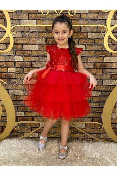 Kız Çocuk Kırmızı Tütü Elbise