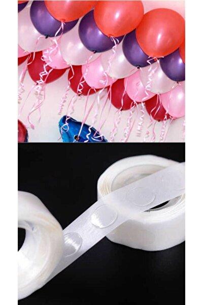 Balon Yapıştırma Için Çift Taraflı Minik Bant 50 Adet