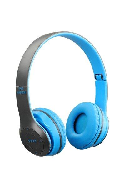 P47 Extra Bass Wireless Bluetooth Kulaklık 5.0+edr Fm Radyo Mavi