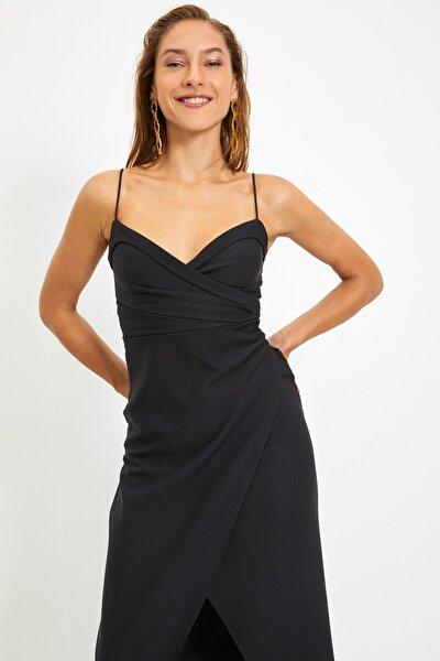 Siyah Yaka Detaylı Abiye & Mezuniyet Elbisesi TPRSS21AE0045