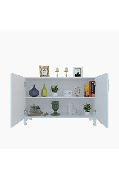 Beyaz Kapaklı Ayaklı Mutfak Dolabı Rabia 068*070*032