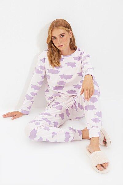 Bulutlu Örme Pijama Takımı THMAW21PT0566