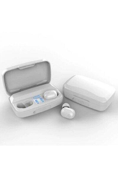 Bluetooth Spor Kulaklık, Led Göstergeli, 1800 Mah Powerbank, Su Geçirmez Tws A10s - (BEYAZ)