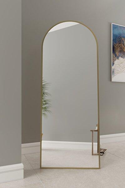 Inci Metal Desıgn Gold Metal Çerçeveli Oval Ayaklı Boy Aynası 180 X 70 Cm Goldovalayaklı18070