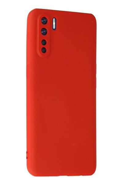 A91 / Reno 3 Kılıf Premium Rubber Silikon Kapak Ankacep - Kırmızı
