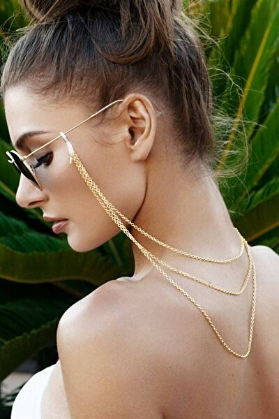 Tria 3 Sıra Gözlük Zinciri Gold Renk