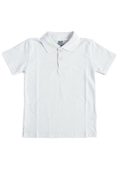 Unisex Çocuk Polo Yaka Kısa Kol Okul T-shirt