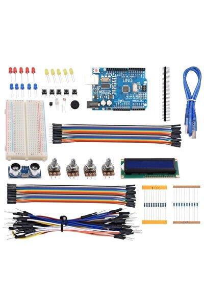 124 Parça Uno R3 Robotik Kodlama Uygulamaları Süper Başlangıç Proje Eğitim Seti T1 Kutu Hediyeli