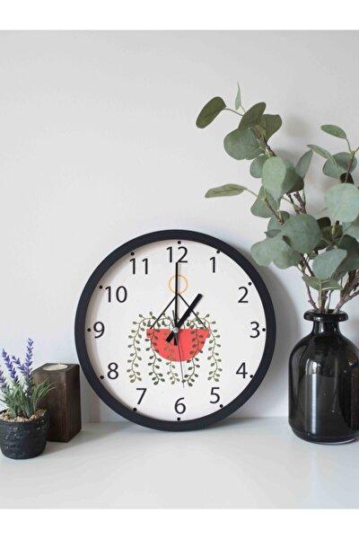Dekoratif Duvar Saati 30cm Gerçek Cam Sessiz Akar Mekanizma Baskılı Mutfak Salon Saati