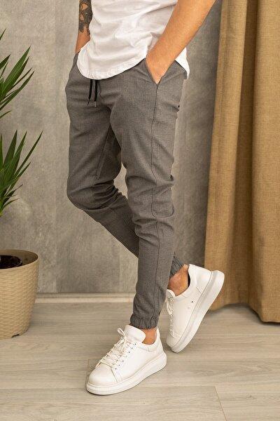 Erkek Gri Jogger Pantolon