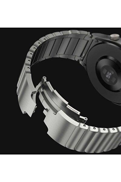 Watch Gt/gt2/gt2 Pro Uyumlu Katlamalı Çizgi Tasarım Çelik Metal Kordon 46mm