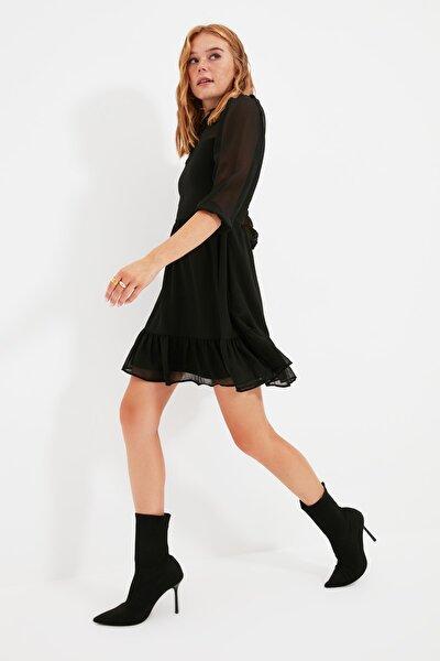 Siyah Dantelli Elbise TWOSS20EL0166