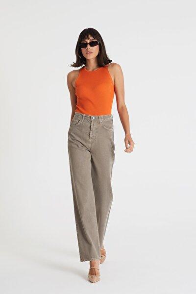 Diana Vizon Yüksek Bel Dad Straight Fit Jean Pantolon C 4517-033