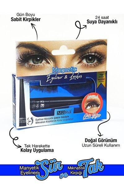 Manyetik Eyeliner'lı Mıknatıslı Doğal Ipek Takma Kirpik Orta Yoğun