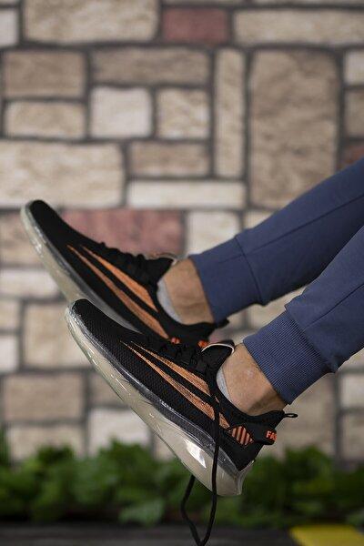 Siyah Turuncu Unisex Sneaker 0012450