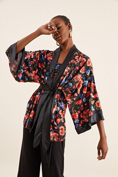 Kadın Çok Renkli Kimono