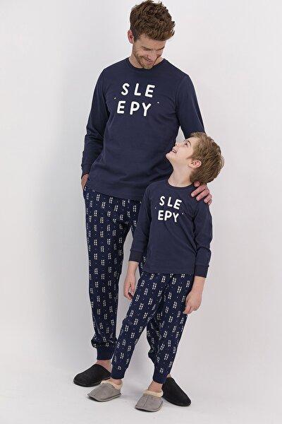 Erkek Uzun Kol Baskılı Pijama Takımı
