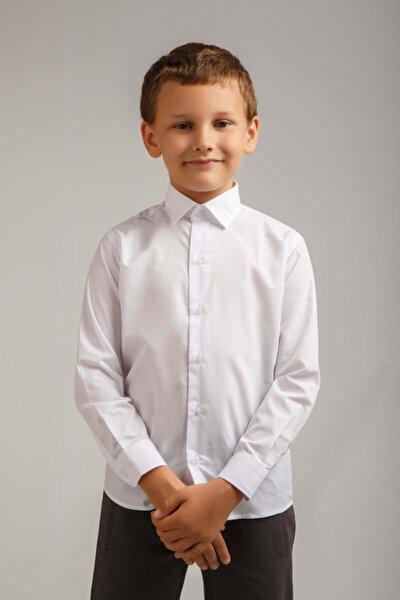 Beyaz Erkek Çoçuk Gömlek