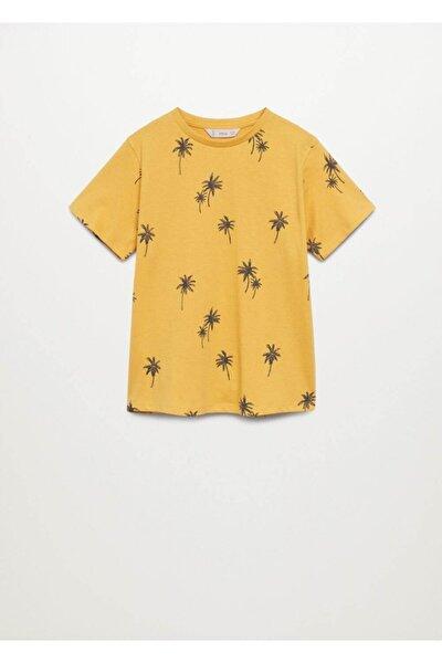 Kayık Baskılı Pamuklu Tişört