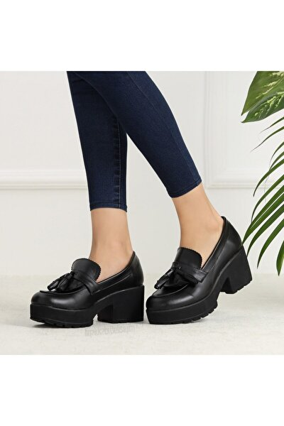 Kadın Siyah Corcik Ayakkabı 844