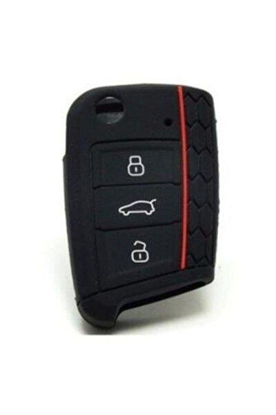 Volkswagen Seat Skoda Polo Tiguan Golf 7 Silikon Anahtar Kılıfı