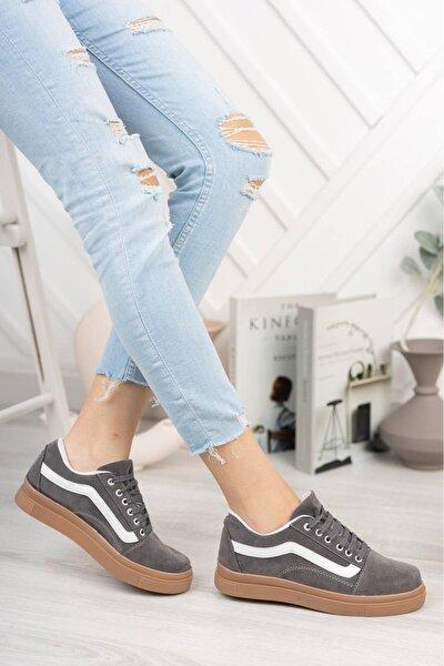 Kadın Gri Sneakers Ayakkabı