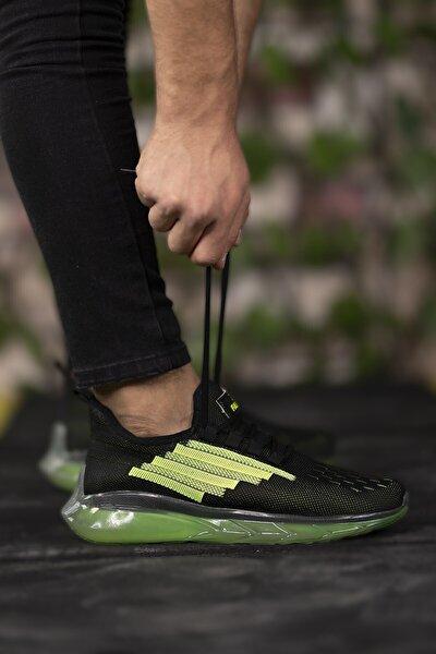 Siyah Yeşil Unisex Sneaker 0012340