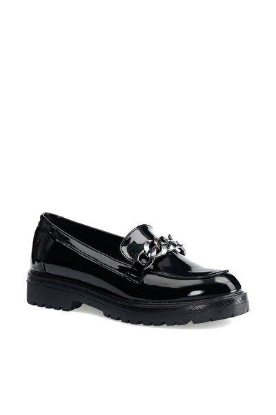 Siyah Kadın Loafer Ayakkabı