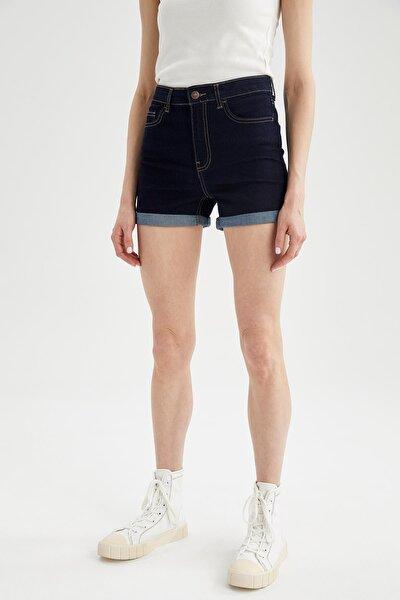 Katlama Detaylı Slim Fitmini Jean Şort