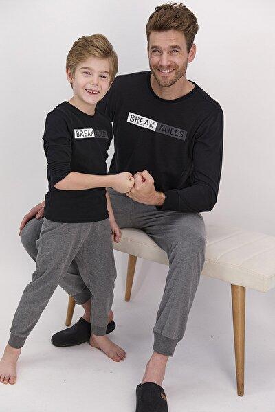 Break Rules Siyah Erkek Pijama Takımı