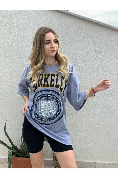 Kadın Oversize Berkeley Baskılı T-shirt