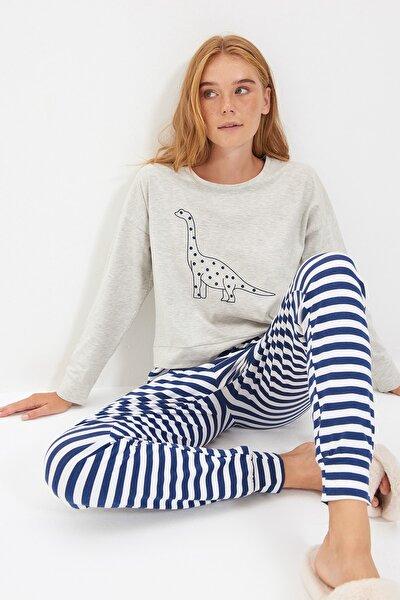 Baskılı Örme Pijama Takımı THMAW21PT0240