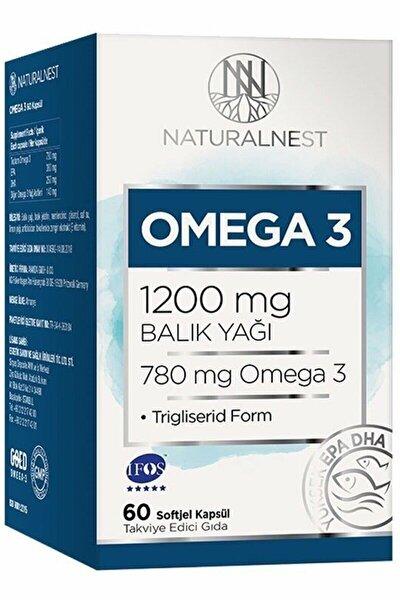 NaturalNest Omega 3 Balık Yağı 1200 mg 60 Kapsül SKT:02/23