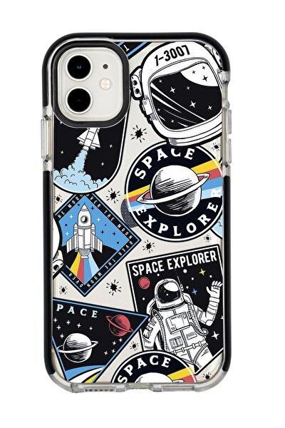 Iphone 11 Space Design Candy Bumper Silikonlu Telefon Kılıfı
