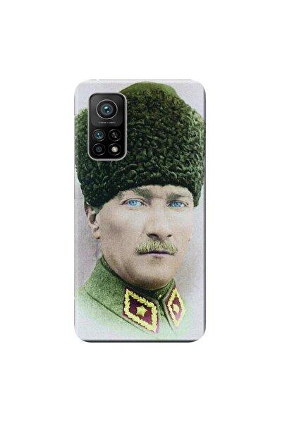 Xiaomi Mi 10t Pro Kılıf Desen Baskılı Silikon Mustafa Kemal Atatürk Stk:392