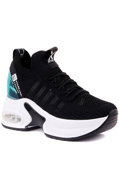 Kadın Yüksek Taban Payetli Sneaker