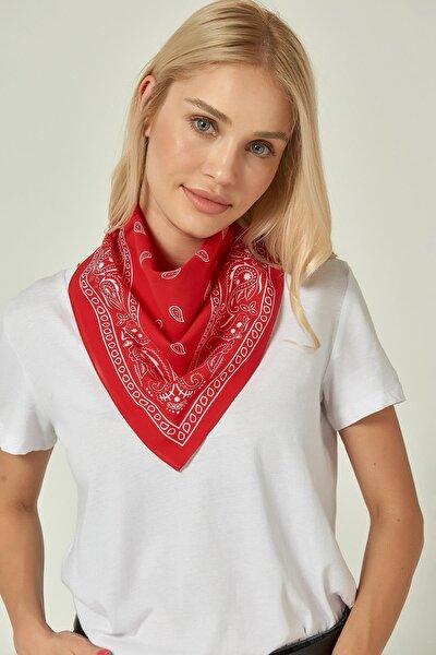 12329-2 Kırmızı Bandana Fular