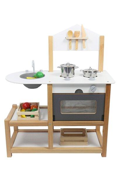 Ahşap Eğitici Oyuncak Mutfak Montessori Gamba Mutfak Seti