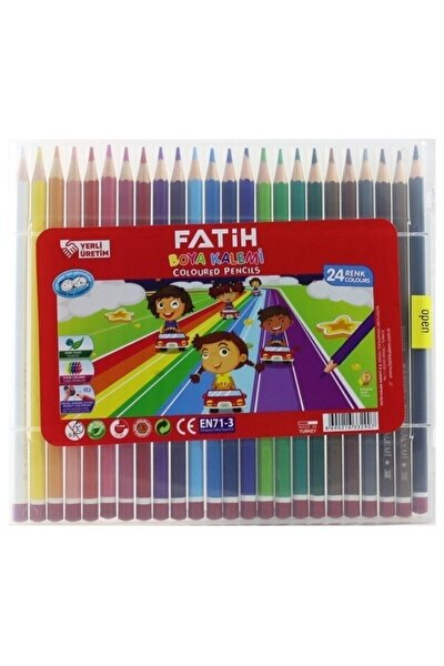 Fatih 24 Renk Çantalı Kuru Boya Kalemi
