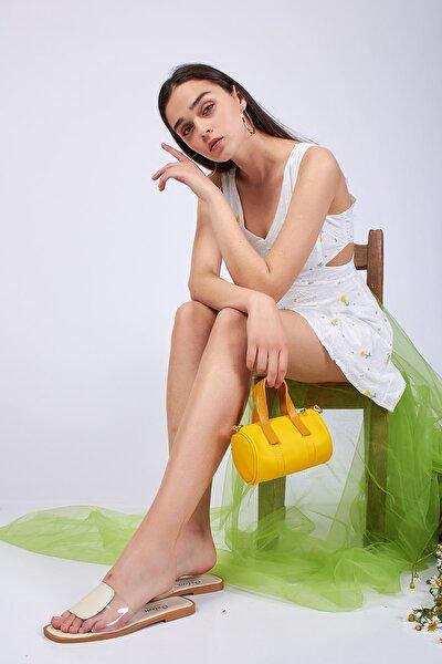 Sarı Mini Silindir Çanta