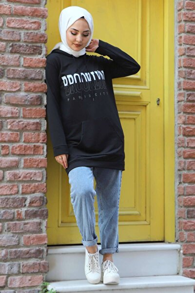 Kapuşonlu Sweatshirt Tsd3318 Siyah