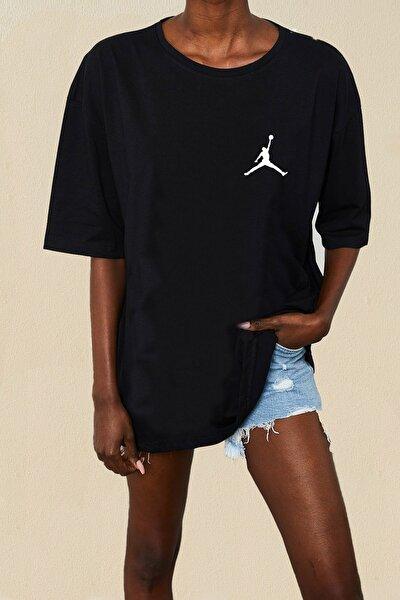 Oversize Bol Kesim Nakışlı Tshirt