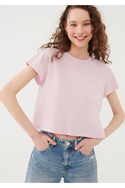 Cepli Pembe Basic Tişört