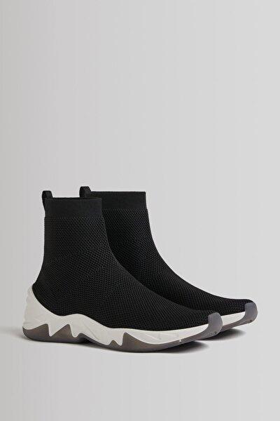 Çorap Model Örgü Yüksek Bilekli Spor Ayakkabı